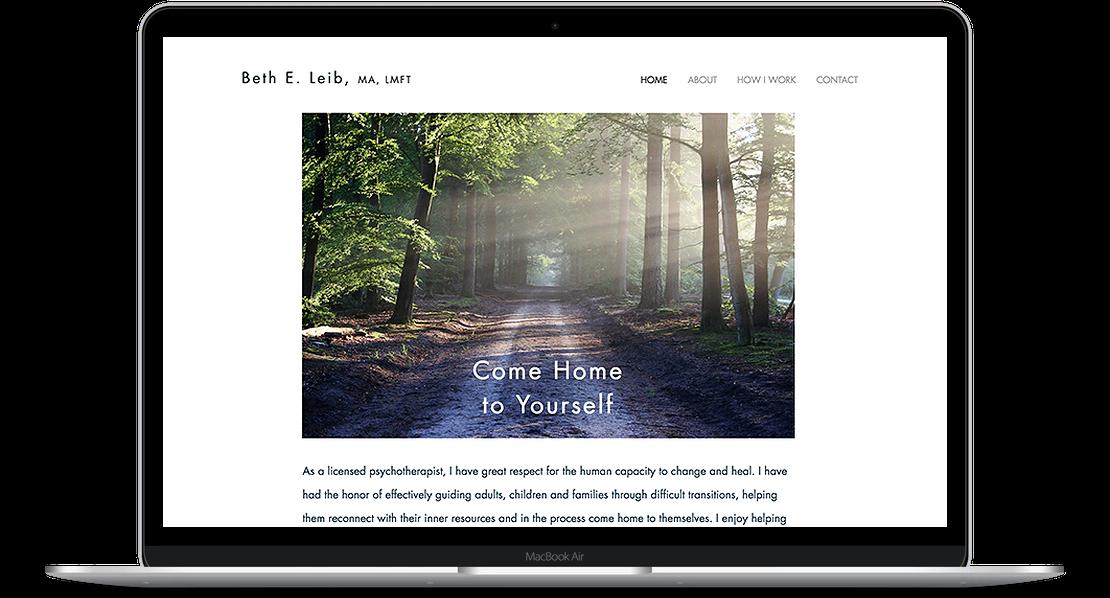 Beth Lieb - Therapist Website