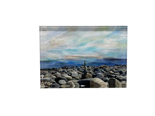 "Art Block ""Balancing on Indigo Rock"""