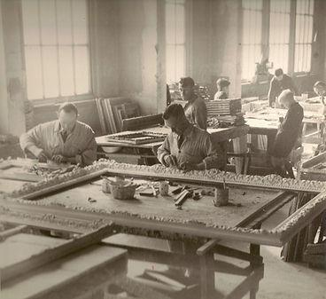 Artisans handcrafting frames