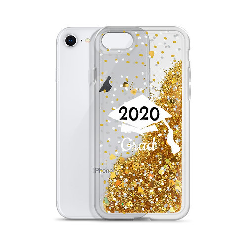 2020 Grad Liquid Glitter Phone Case