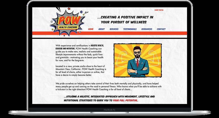 POW Health Coaching - Wellness Website