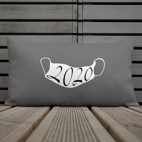 2020 white Mask on  Pillow
