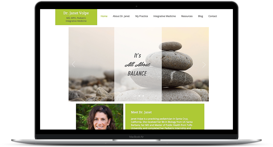 Janet Volpe - Medical Practice Website