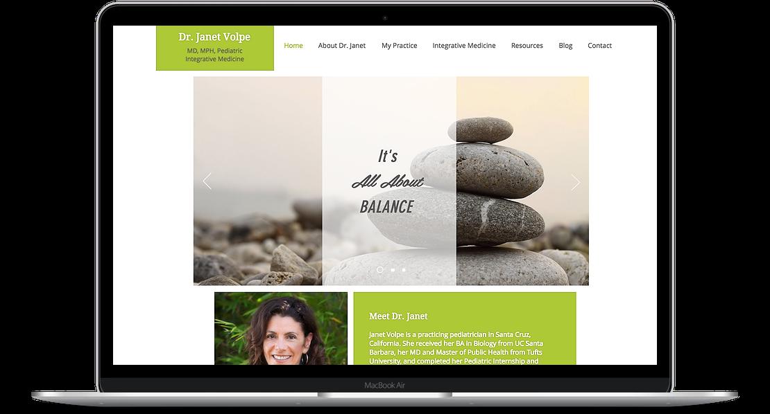 Janet Volpe - Medical Practice Website