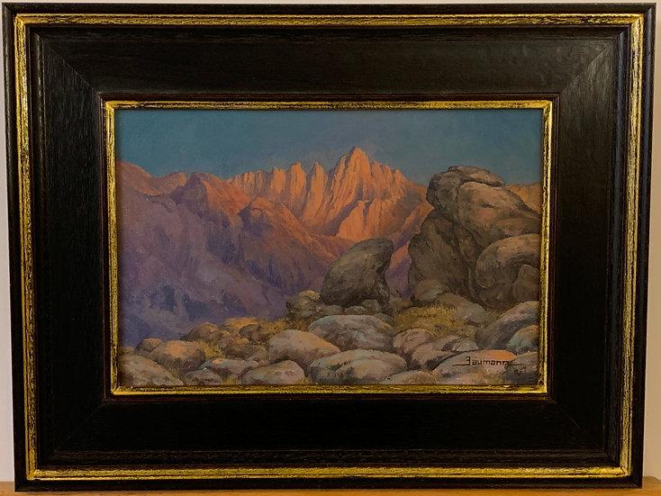 Geological Landscape, Signed Baumann