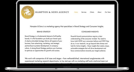 Hampton & Sons Agency - Brand Strategy Website