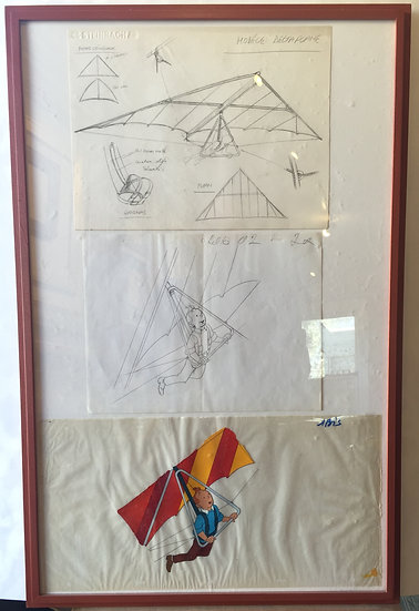 Original sketch and film cell: 'Tintin'