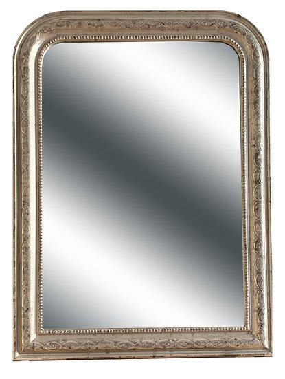 White Gold  Louis Philippe Style Mirror