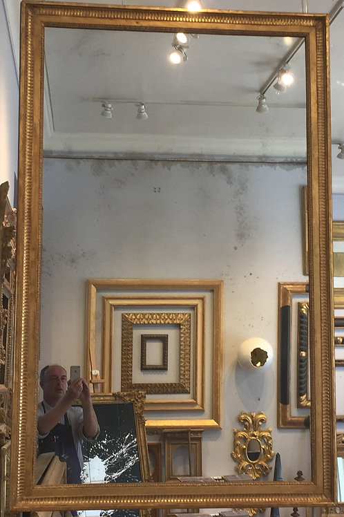 Antique Louis XVI style Mirror with divided mirror