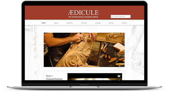 Aedicule - Artisan Website and E-commerce