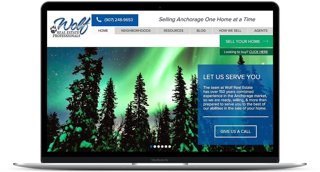 Wolf Alaska - Realty Website