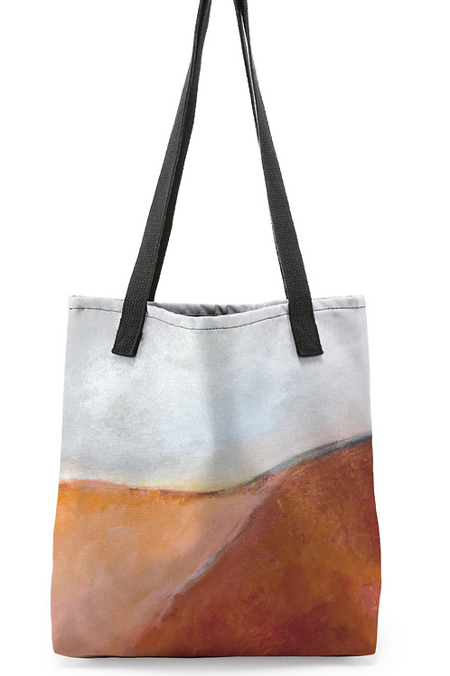 """Canvas Tote """"Coral Combustion"""""""