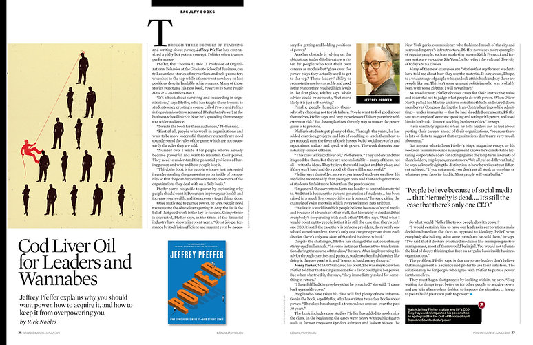 Steven Powell Design. Stanford Business feature layout. Illustration art direction + page design.