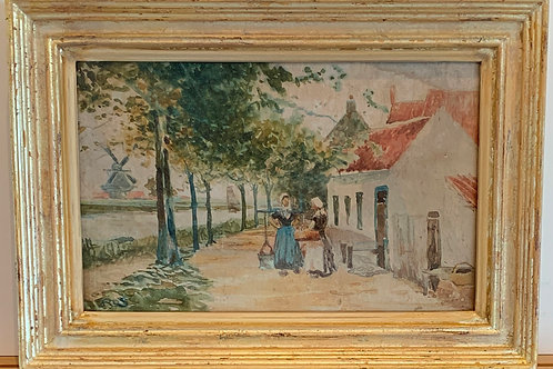 Dutch Street Scene with Figures