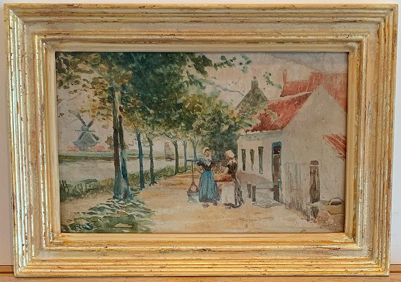 Dutch Street Scene with Figures