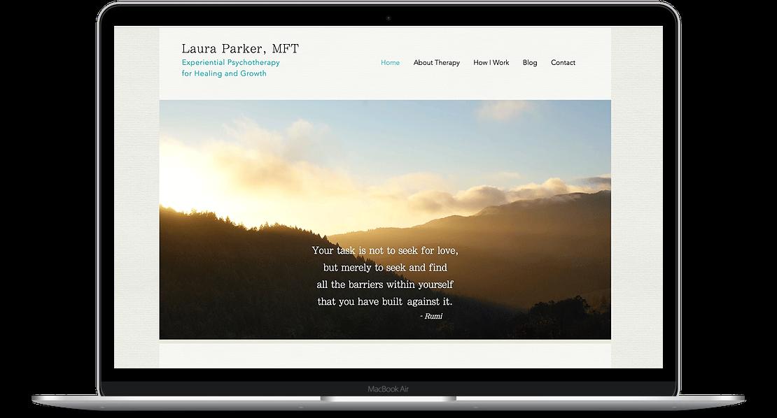 Laura Parker, Therapist Website