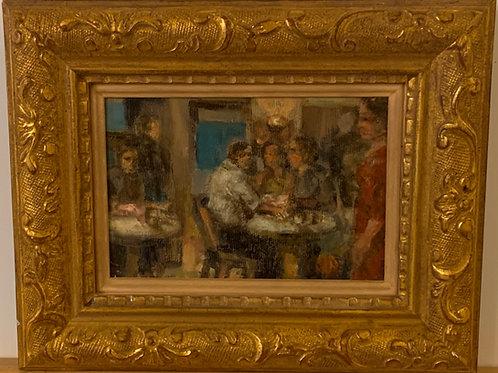 Café Scene, signed H. D'Amico