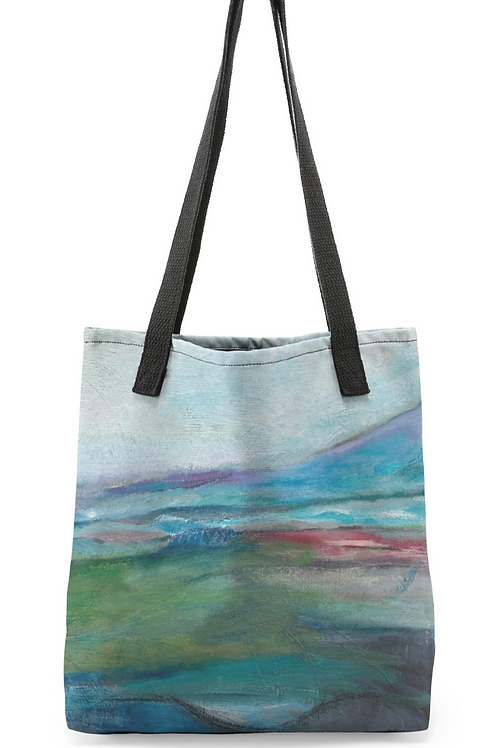 """Canvas Tote """"Hidden Inlet of Color"""""""
