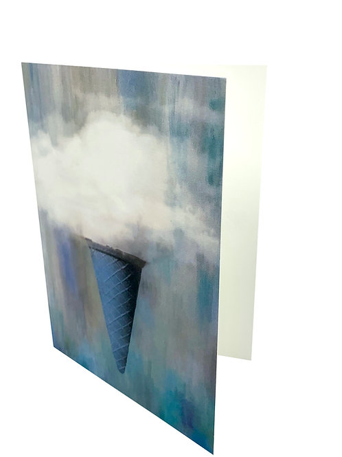 "Notecard ""Ice Cream Clouds"""