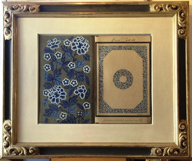 'Carpet Designs' Two Watercolors