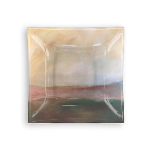 "Small Square Glass Tray ""Horizon of Hope"""