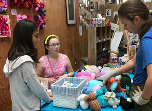 textile art and stuffies
