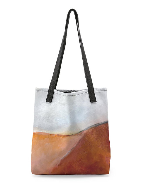 "Canvas Tote ""Coral Combustion"""