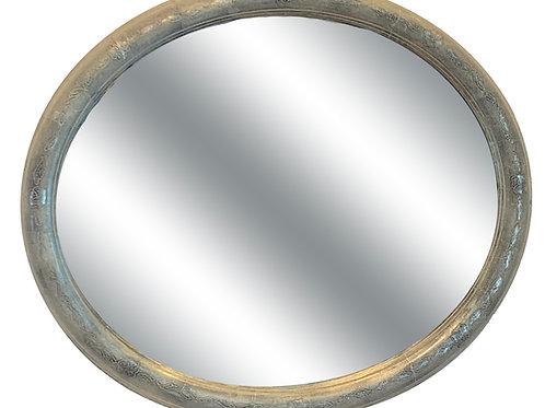 White Gold Oval Mirror