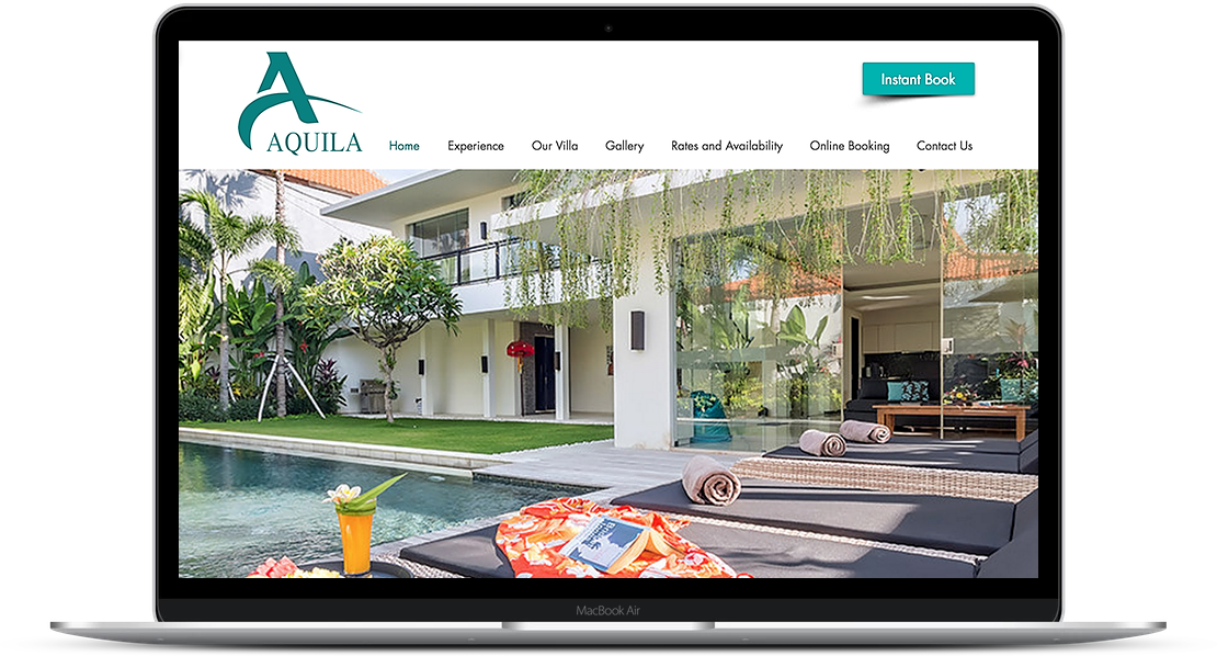Aquila Villa - Travel Accomodations Website