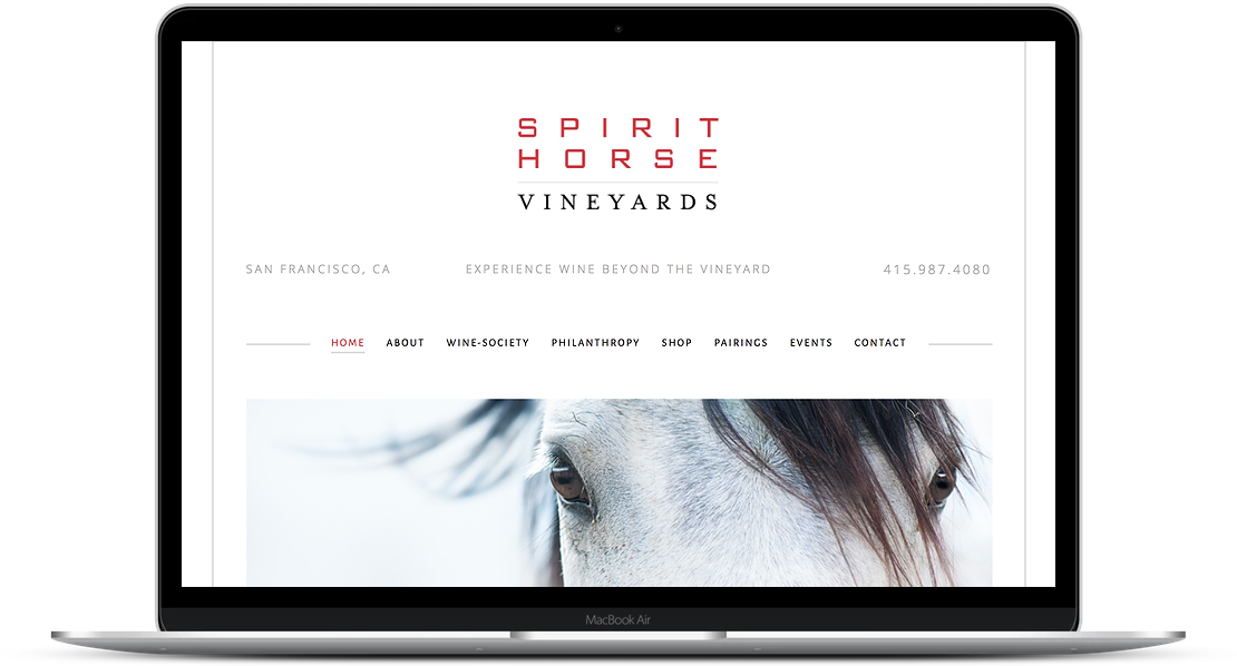 Spirit Horse Vineyards - Wine Website