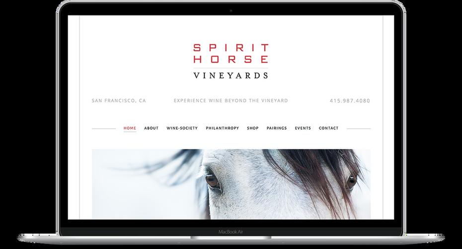 Spirit Horse Vineyards - Wine Website