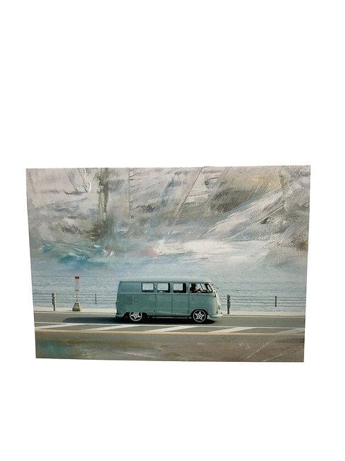 "Notecard ""VW Van Beach Days"""