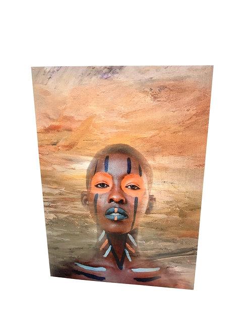 "Notecard ""Tribal Sunset"""