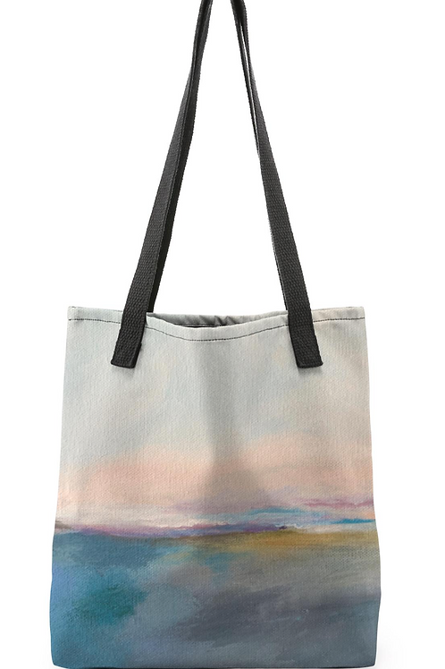 "Canvas Tote ""Blushing Horizon"""