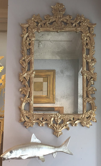 Georgan style carved and gilded Mirror