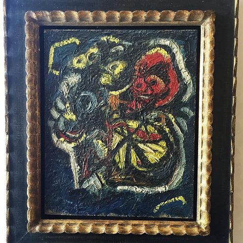 Oil on canvas: 'Rode Masker'