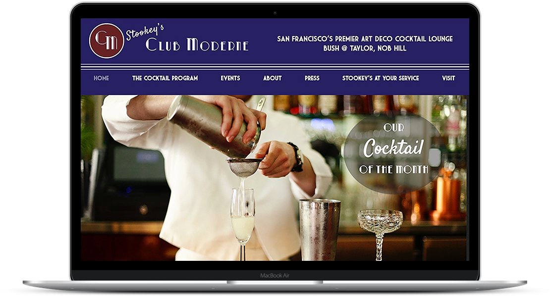 Stookey's Club Modern - Bar Website