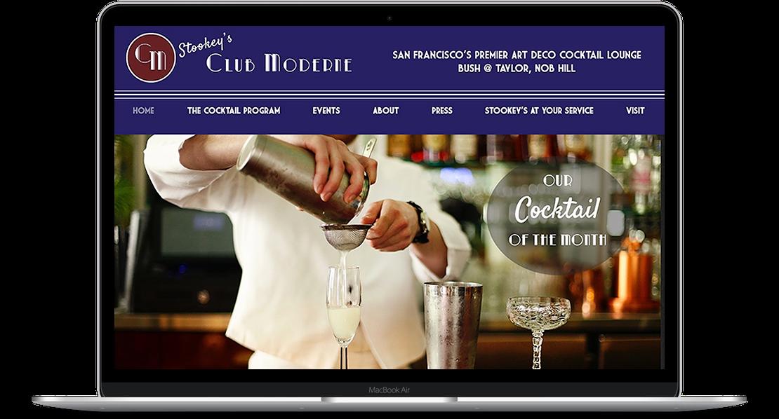 Stookey's Club Modern - Bar Website