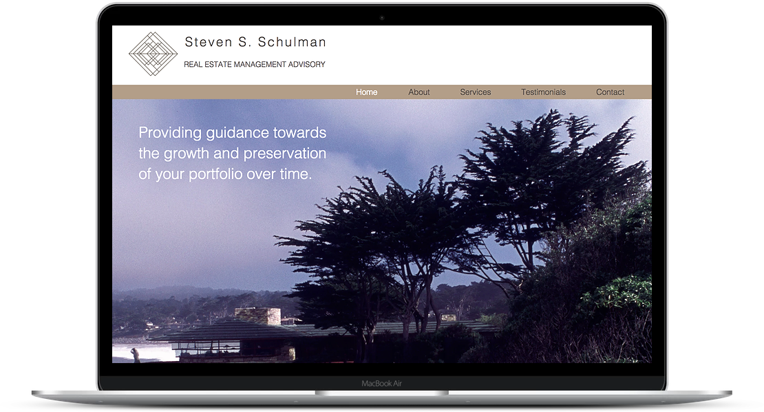 Shulman Advisory - Real Estate Financial Advisor Website