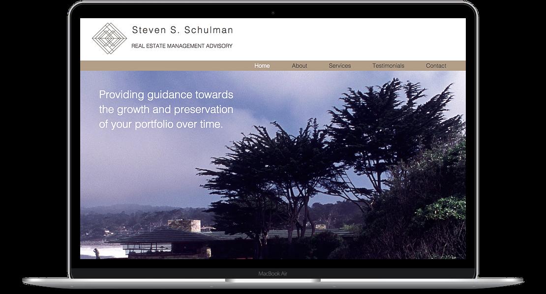 Shulman Advisory - Real Estate Financial Advisor Website