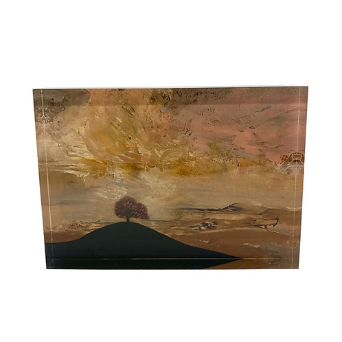 "Art Block ""Tree on the Hill"""