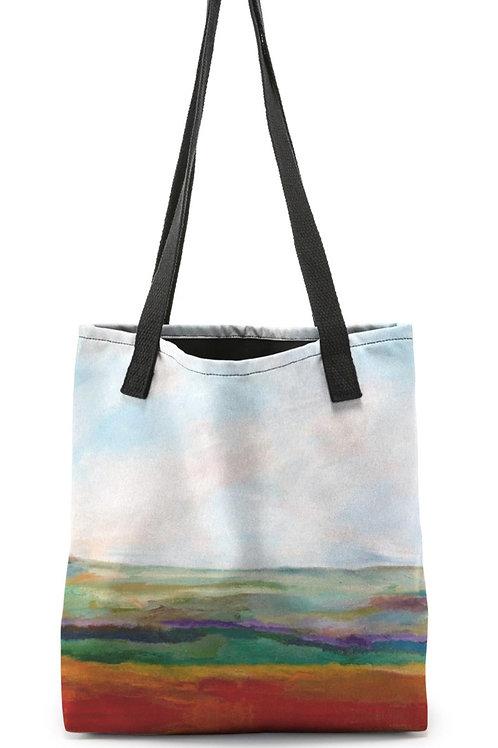 "Canvas Tote ""Rainbow Landscape"""