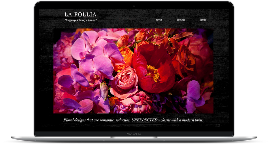 Thierry Chantrel - Floral Design Website
