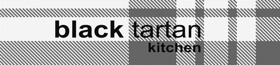 black tartan kitchen coming soon