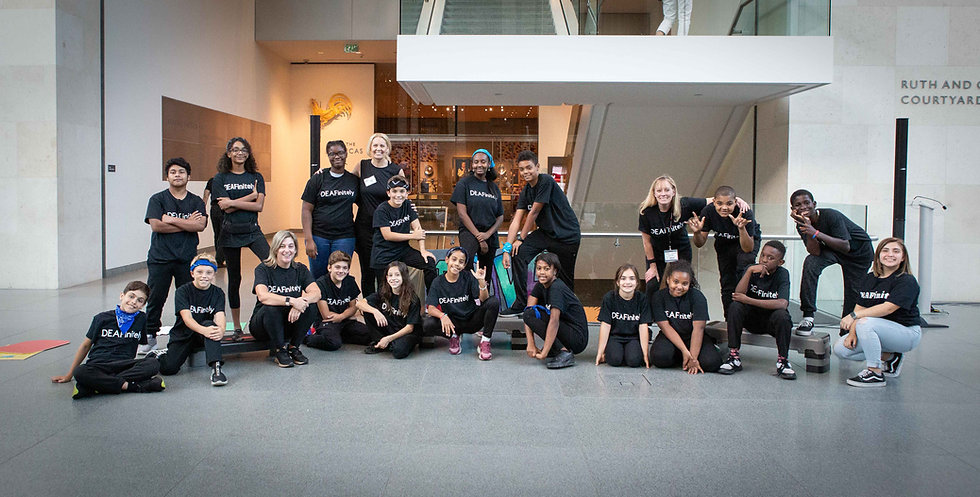 DEAFinitleyCrew posing at the Boston Museum of Fine Arts 2019
