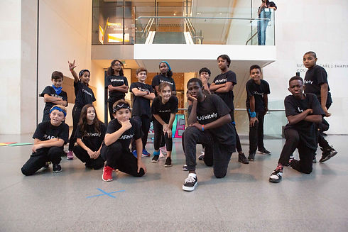 DEAFinitley Crew in various Hip Hop poses at the Boston Museum of Fine Art