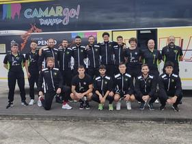 Alto ritmo para el desplazamiento del Camargo Turismo al pabellón del Grupo Covadonga, un clásico