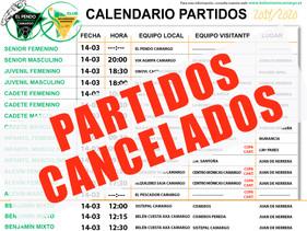 Suspendidas todas las competiciones debido al COVID-19