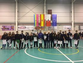 Gran homenaje a los participantes del CESA y sendas victorias de los dos equipos senior