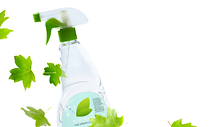 Glass Cleaner with Leaves